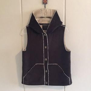 Ralph Lauren Vegan Sherling And Suede Vest Sz M